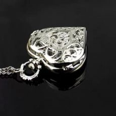 Chain Heart  Silver nyakláncóra * ezüstös tárcában