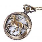 Chain Horse/ zsebóra / nyakláncóra  selyem ékszertáskában
