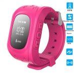 Gyerek okosóra GPS funkcióval - Pink