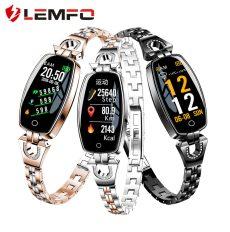 LEMFO H8 Fitness karkötő Női Sport Okos Óra 2018 vízálló pulzusmérő Bluetooth Android IOS karóra