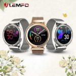 LEMFO LT05 intelligens női okos óra 1,03 hüvelykes képernyő fém ötvözet 24 órás alvás pulzusmérő IP67 vízálló női okos óra