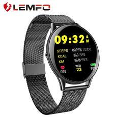 LEMFO SN58 edzett üveg képernyő acél óraszíj okos óra IP68 vízálló pulzusmérő vérnyomásmérő, Android, IOS operációs rendszerű telefonokhoz