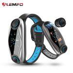 LEMFO LT04 Fitness karkötő 2 az 1-ben vezeték nélküli Bluetooth fülhallgató és bluetooth 5.0 Chip IP67 vízálló Sport intelligens óra