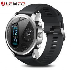 LEMFO T3 PRO Okosóra dupla idő kijelőzvel,  IP67 vízálló , pulzusmérővel és aktivitás mérővel, Bluetooth, iOS és  Android rendszerekhez