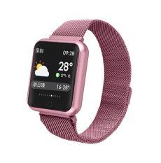 MELANDA P68 Női Okosóra IP68 vízállóság pulzusmérés, üzenetküldés, hívás, emlékeztetők, lépésszámláló, okoskarkötő Android és iOS op.rendszerekhez