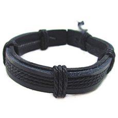 Leather Rope bőr karkötő * Smile bársony tárvával