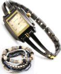 Kimio Nox női karóra karkötőkkel * ajándék tárcával